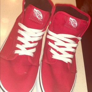Red vans high tops!